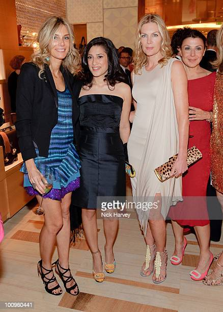 Kim Hersov Priscilla Waters Allegra Donn and a guest attend the launch of the Louis Vuitton Bond Street Maison on May 25 2010 in London England