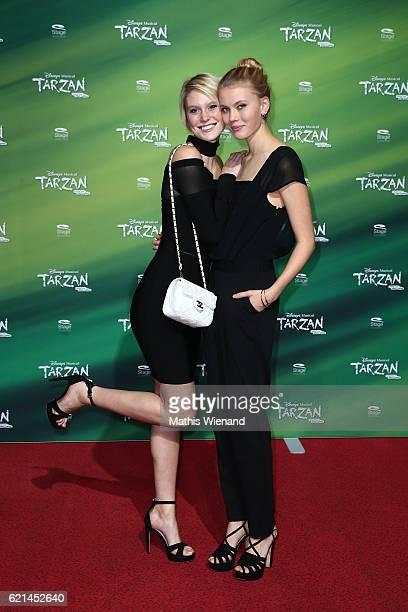 Kim Hnizdo and her sister Mina attend 'Tarzan' Musical Premiere on November 6 2016 in Oberhausen Germany