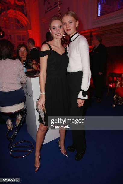 Kim Hnizdo and her sister Nina Hnizdo attend the Movie Meets Media event 2017 at Hotel Atlantic Kempinski on November 27 2017 in Hamburg Germany