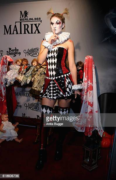 Kim Hnizdo attends the Halloween party by Natascha Ochsenknecht at Berlin Dungeon on October 27 2016 in Berlin Germany