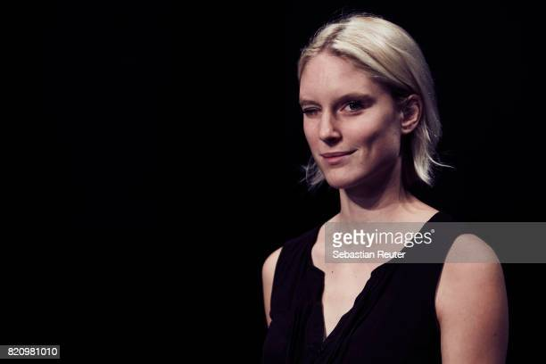 Kim Hnizdo is seen ahead of the 3D Fashion Presented By Lexus/Voxelworld show during Platform Fashion July 2017 at Areal Boehler on July 22, 2017 in...