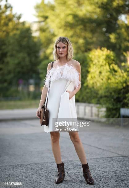 Kim Hnizdo wearing a complete Riani look on July 03 2019 in Berlin Germany