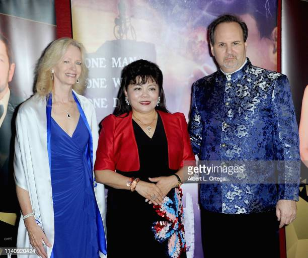 Kim Holland Angel An and Kevin Foster attend the Premiere Of Against The Wall held at Laemmle Monica Film Center on May 2 2019 in Santa Monica...