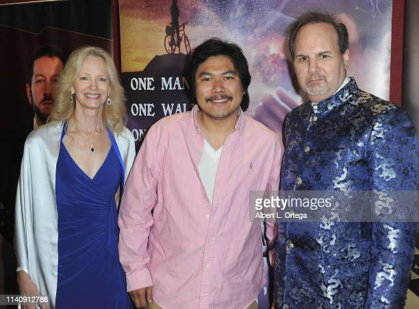 Kim Holland Roc Chen and Kevin Foster attend the Premiere Of Against The Wall held at Laemmle Monica Film Center on May 2 2019 in Santa Monica...