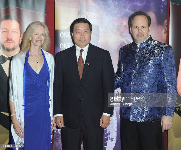 Kim Holland Steven Shen and Kevin Foster attend the Premiere Of Against The Wall held at Laemmle Monica Film Center on May 2 2019 in Santa Monica...
