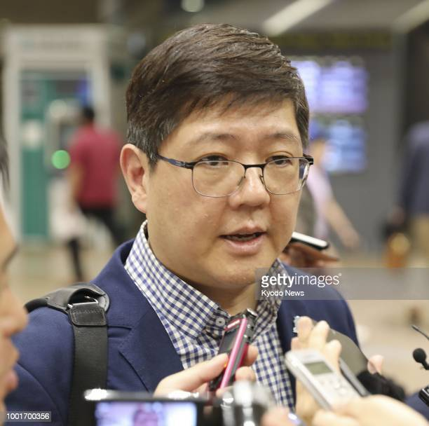 Kim Hong Gul head of the Korean Council for Reconciliation and Cooperation and a son of late South Korean President Kim Dae Jung meets the press at...