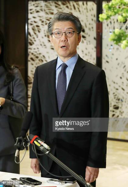 Kim Hong Kyun, special representative for Korean Peninsula peace and security affairs at the South Korean Foreign Ministry, speaks to reporters in...