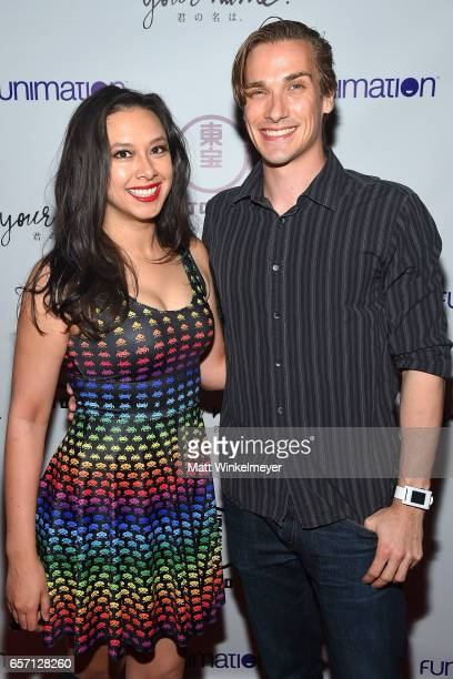 Kim Horcher and John Stone attend Funimation Films presents 'Your Name' Theatrical Premiere in Los Angeles CA at Yamashiro Hollywood on March 23 2017...