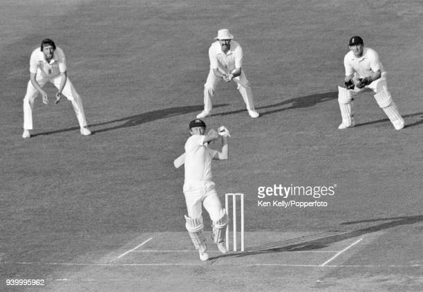 Kim Hughes batting for Australia during his innings of 117 in the Centenary Test match between England and Australia at Lord's Cricket Ground,...