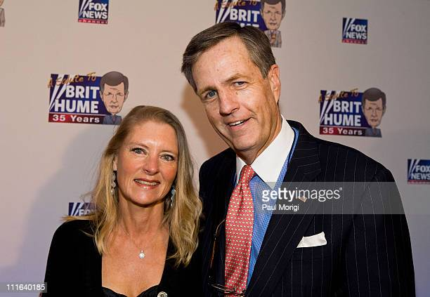 Kim Hume and Brit Hume attend salute to Brit Hume at Cafe Milano on January 8 2009 in Washington DC