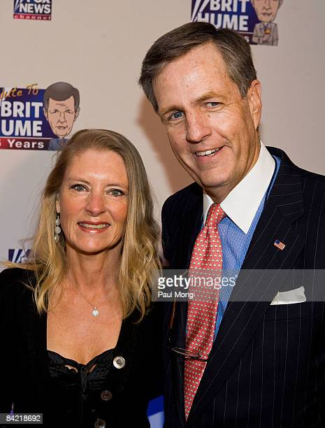 Kim Hume and Brit Hume attends salute to Brit Hume at Cafe Milano on January 8 2009 in Washington DC