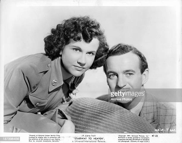 Kim Hunter and David Niven in a scene from the film 'Stairway to Heaven' 1947