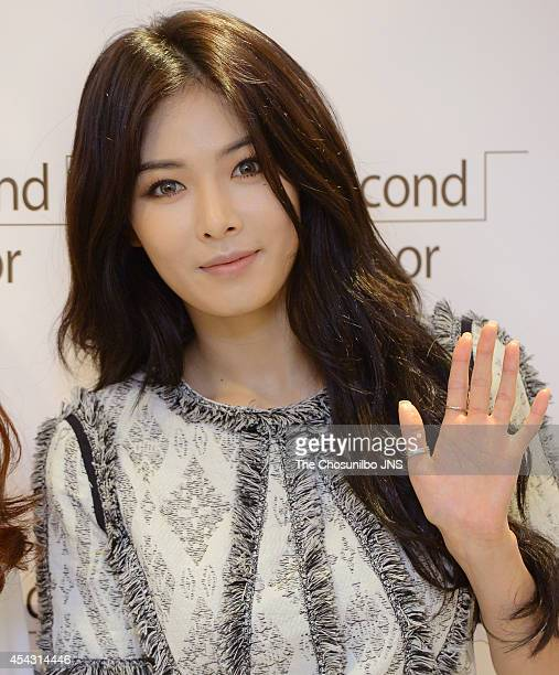 Kim HyunA of 4minute attends the 2econd floor opening event at Hyundai department store on August 28 2014 in Seoul South Korea