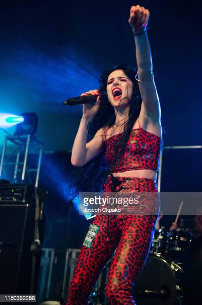 Kim Jennett performs on stage during day 3 of Download festival 2019 at Donington Park on June 16 2019 in Castle Donington England