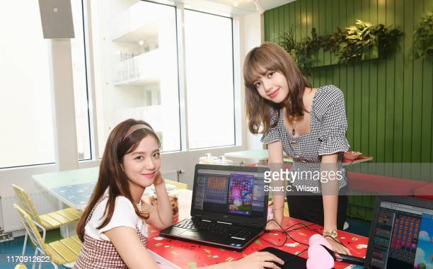 Kim Jisoo and Lalisa Manoban from BLACKPINK go behind the scenes of level design at the King offices in Stockholm Sweden ahead of the launch of the...