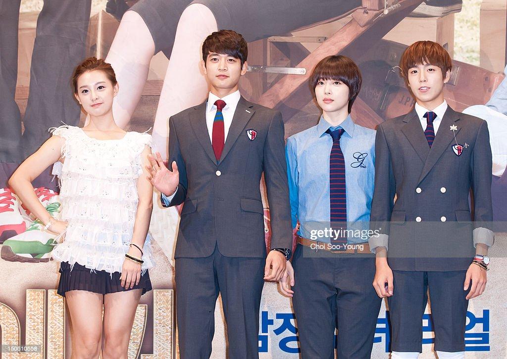 Kim Ji-Won, Min-Ho of SHINee, Sulli of f, and Lee Hyun-Woo attend