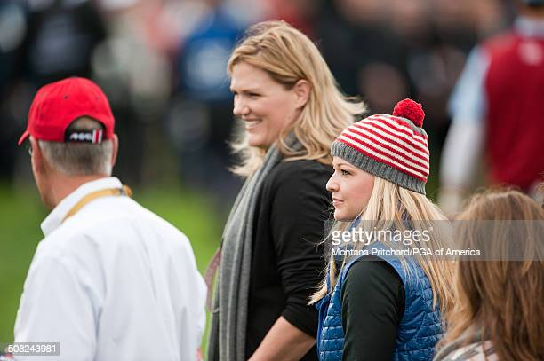 Kim Johnson and Kandi Harris during the continuation of Saturday's foursome and fourball matches at the 38th Ryder Cup at the Twenty Ten Course at...