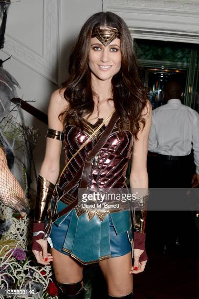 Kim Johnson at Annabel's Halloween Party 2018 at Annabels on October 31 2018 in London England