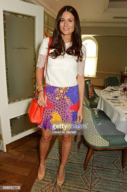 Kim Johnson attends a lunch hosted by Tamara Beckwith and Alessandra Vicedomini to celebrate luxury fashion brand Vicedomini at Fortnum Mason on June...