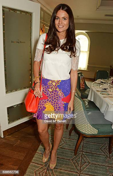 Kim Johnson attends a lunch hosted by Tamara Beckwith and Alessandra Vicedomini to celebrate luxury fashion brand Vicedomini at Fortnum & Mason on...