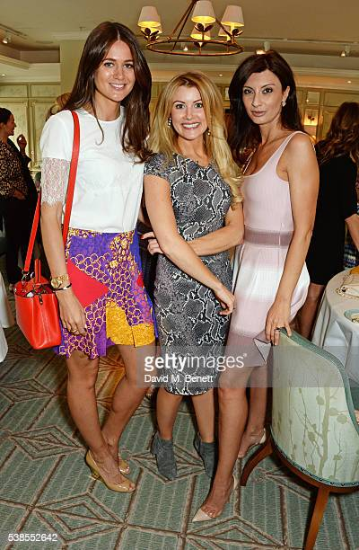 Kim Johnson Kate Hersov and Alessandra Vicedomini attend a lunch hosted by Tamara Beckwith and Alessandra Vicedomini to celebrate luxury fashion...