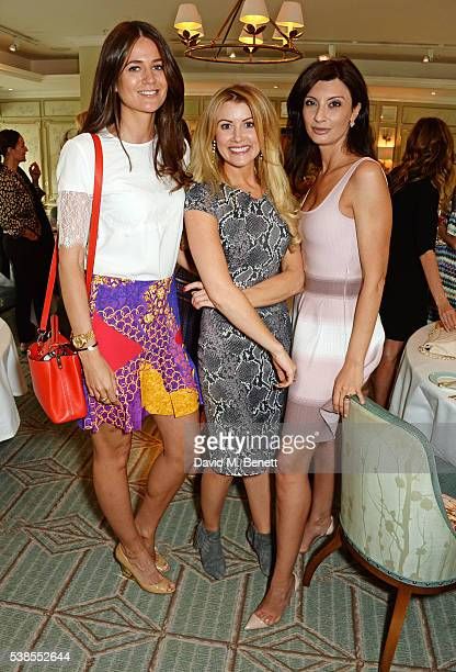 Kim Johnson, Kate Hersov and Alessandra Vicedomini attend a lunch hosted by Tamara Beckwith and Alessandra Vicedomini to celebrate luxury fashion...