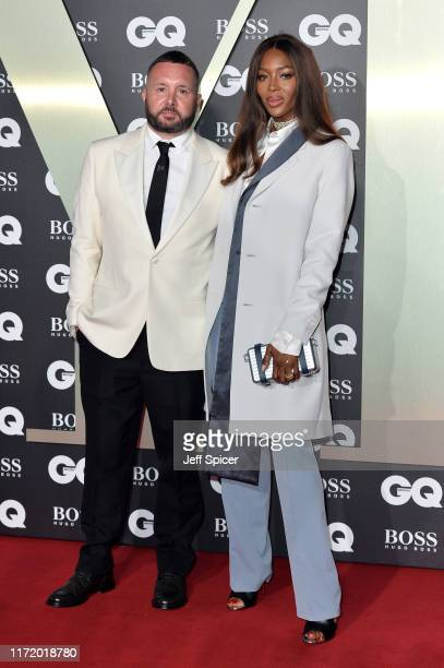 Kim Jones and Naomi Campbell attend the GQ Men Of The Year Awards 2019 at Tate Modern on September 03 2019 in London England