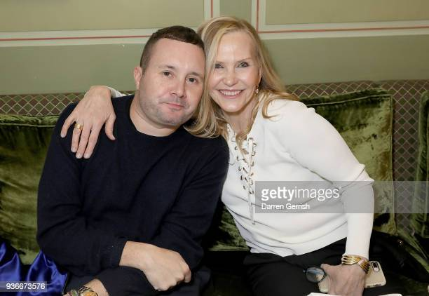 Kim Jones and Susan Duffy attend as Edward Enninful and Kate Moss celebrate Giovanni Morelli as the new creative director of Stuart Weitzman with a...