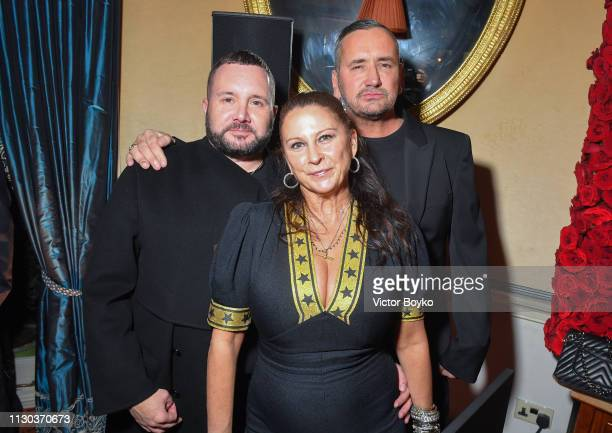 Kim Jones Fran Cutler and Fat Tony attend the Victoria Beckham x YouTube Fashion Beauty After Party at London Fashion Week hosted by Derek Blasberg...
