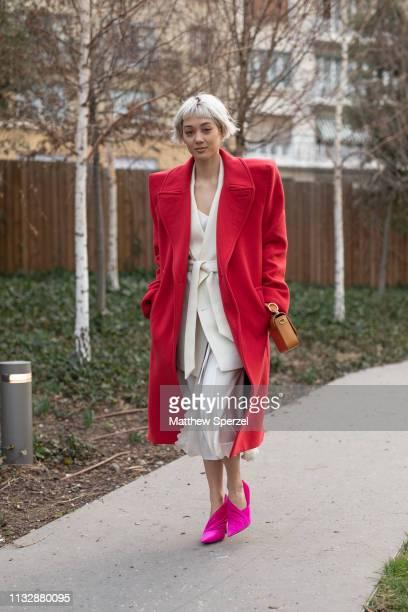 Kim Jones is seen on the street attending CHLOE during Paris Fashion Week AW19 wearing CHLOE on February 28 2019 in Paris France
