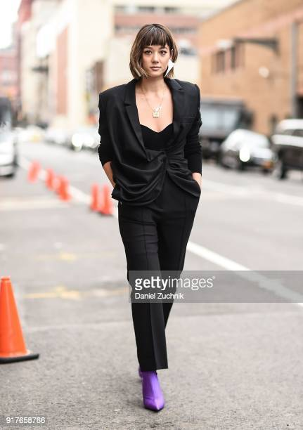 Kim Jones is seen outside the Ralph Lauren show during New York Fashion Week Women's A/W 2018 on February 12 2018 in New York City