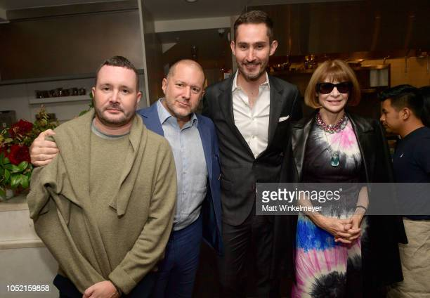 Kim Jones Jony Ive Kevin Systrom and Anna Wintour attend VIP Dinner For WIRED's 25th Anniversary Hosted By Nicholas Thompson And Anna Wintour at...