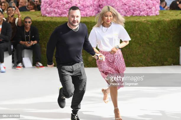 Kim Jones walks the runway during the Dior Homme Menswear Spring/Summer 2019 show as part of Paris Fashion Week on June 23 2018 in Paris France