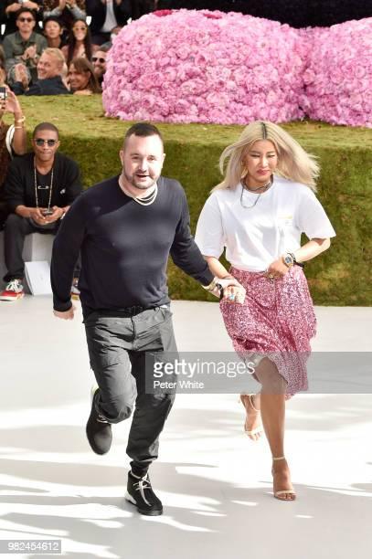 Kim Jones walks the runway during the Dior Homme Menswear Spring/Summer 2019 show as part of Paris Fashion Week on June 23 2018 in Paris France