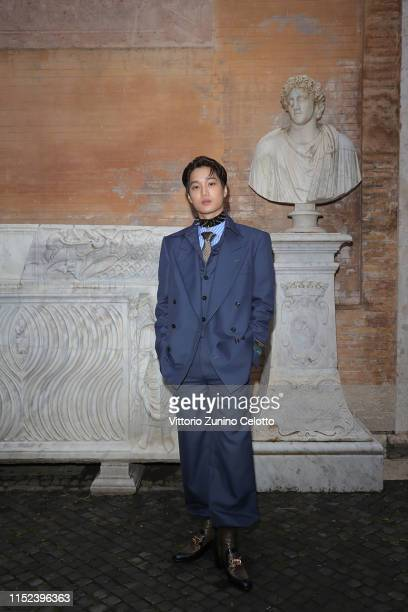 Kim JongIn known as Kai arrives at the Gucci Cruise 2020 at Musei Capitolini on May 28 2019 in Rome Italy