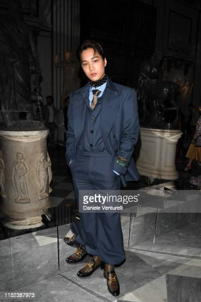 Kim JongIn known as Kai attends Gucci Cruise 2020 at Musei Capitolini on May 28 2019 in Rome Italy