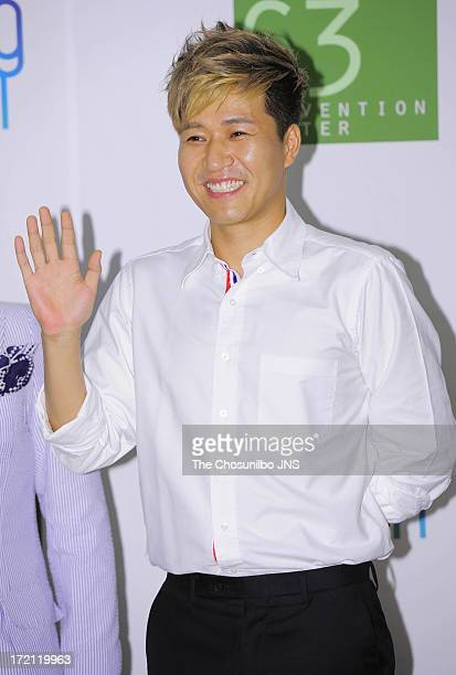 Kim JongMin attends Jang YoonJung and Do KyungWan Wedding at 63 building convention center on June 28 2013 in Seoul South Korea