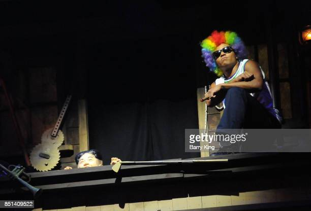 Kim Jongun and Dennis Rodman spoof in The Hanging show at Knott's Scary Farm at Knott's Berry Farm on September 21 2017 in Buena Park California