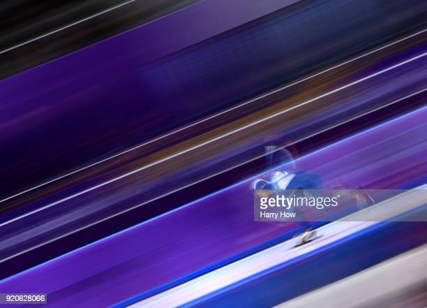Kim Jun-Ho of South Korea compete during the Men's 500m Speed Skating on day 10 of the PyeongChang 2018 Winter Olympic Games at Gangneung Oval on...