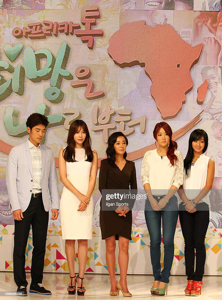 Kim Kang-Woo, Kim A-Joong, Cho Min-Soo, So-You and Hyo-Lyn attend the '2013 Hope TV SBS' Press Conference at SBS Prism Tower on May 8, 2013 in Seoul, South Korea.