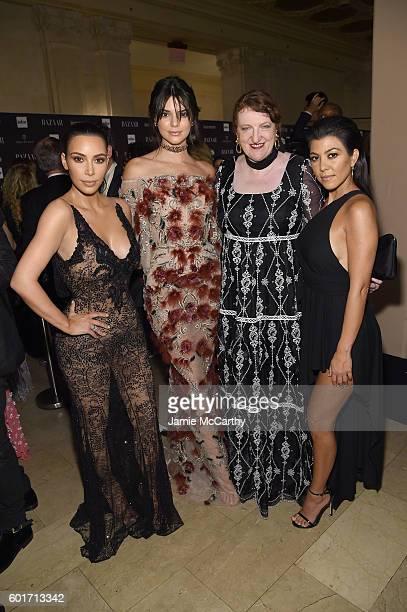 Kim Kardarshian West Kendall Jenner Glenda Bailey and Kourtney Kardashian during Harper's Bazaar's celebration of ICONS By Carine Roitfeld presented...