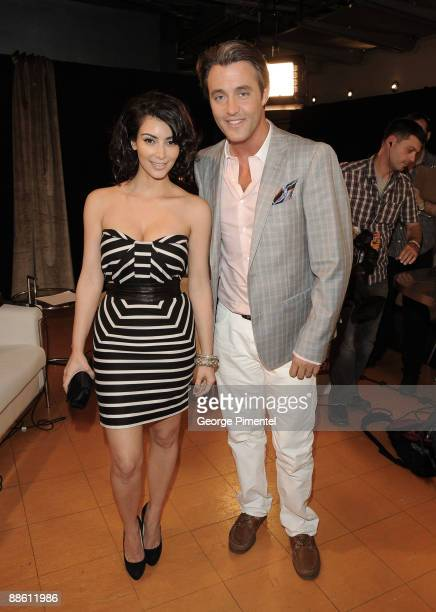 Kim Kardashian and Ben Mulroney pose backstage at the 20th Annual MuchMusic Video Awards at the MuchMusic HQ on June 21 2009 in Toronto Canada
