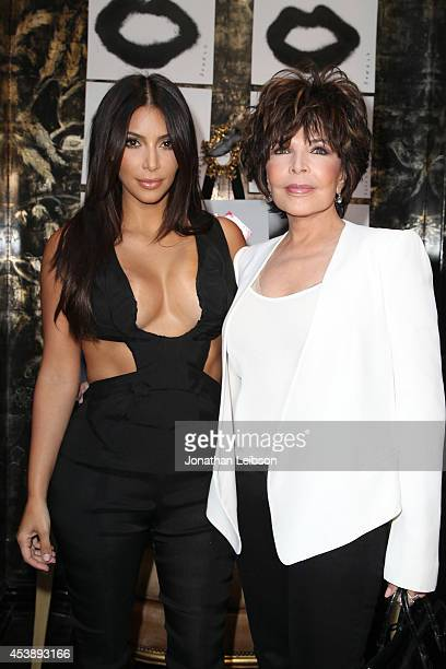 Kim Kardashian and Carole Bayer Sager attend the VIOLET GREY Cassandra Huysentruyt Grey Host Artist In Residence Donald Robertson on August 20 2014...