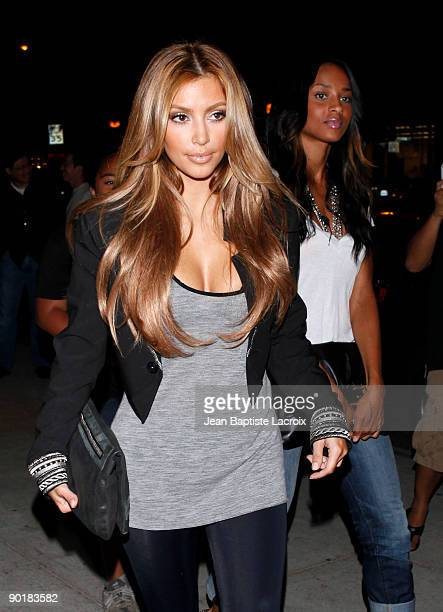 Kim Kardashian and Ciara visit Millions of Milkshakes on August 29 2009 in Los Angeles California