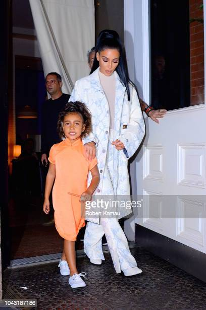 Kim Kardashian and daughter North West seen out and about in Manhattan on September 29 2018 in New York City