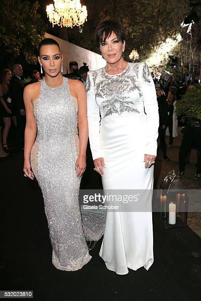 Kim Kardashian and her mother Kris Jenner during the 'De Grisogono' Party at the annual 69th Cannes Film Festival at Hotel du CapEdenRoc on May 17...