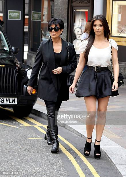 COVERAGE*** Kim Kardashian and her mother Kris Jenner walk down the street as they visit London on September 12 2010 in London England