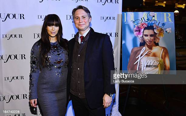Kim Kardashian and Jason Binn attend the DuJour Magazine Spring 2013 Issue Celebration at The Darby on March 27 2013 in New York City