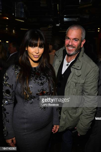 Kim Kardashian and Jon Singer attend the DuJour Magazine Spring 2013 Issue Celebration at The Darby on March 27 2013 in New York City
