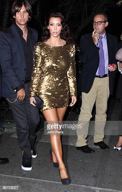 Kim Kardashian and Jonathan Cheban attend a post MTV Video Music Awards dinner at The Waverly Inn on September 13 2009 in New York City